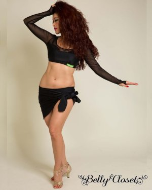 画像2: 【Polina】ブラックメッシュがさらにセクシー!体のラインを美しく見せるトップス&ロングスカートの2点セット