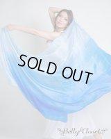 【シルクベール】 グラデーションミックス ブルー〜 〔レターパックライト360円OK〕