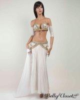 【Eman Zaki】オーダーメイド 珍しいプリーツタイプのスカート&色とりどりのビジューがアラビアンな雰囲気