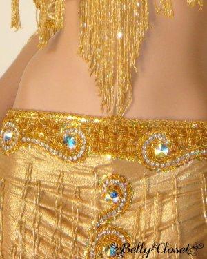 画像4: 【Sim】オーダーメイド ブラのカットが美しい!ブラ全面に施されたゴールドビーズ&フリンジがゴージャス★