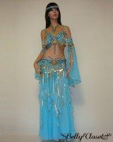 【Bella】オーダーメイド 優しい水色に星モチーフが最高にキュート コイン装飾でシャラシャラと美しい音色を奏でる