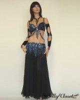 【Bella】オーダーメイド 大人気デザイン!黒衣装こそ装飾ビーズが圧倒的に輝くものを持ちたい