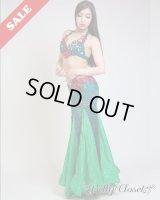 ☆SALE☆【Polina】Rose of the Garden 女王オーラあふれるロイヤルグリーンの衣装 美しいヒップラインを演出します
