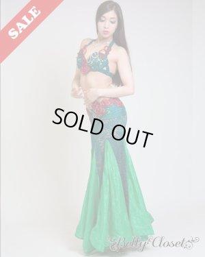 画像1: ☆SALE☆【Polina】Rose of the Garden 女王オーラあふれるロイヤルグリーンの衣装 美しいヒップラインを演出します