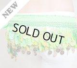 【ヒップスカーフ】 うろこ&コインスタイル ライトグリーン 〔レターパックライト360円OK〕